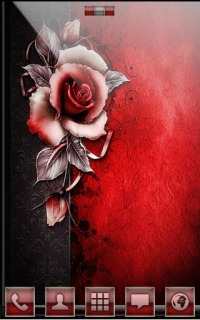 Red Rose For Android Theme Mobile Theme