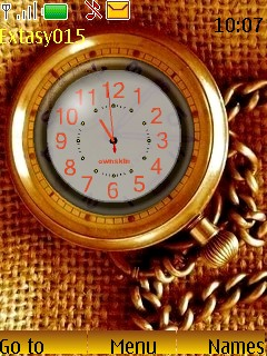 Golden Swf Clock S40 Theme Mobile Theme