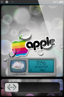 Drops & Colors Apple IPhone Theme Mobile Theme