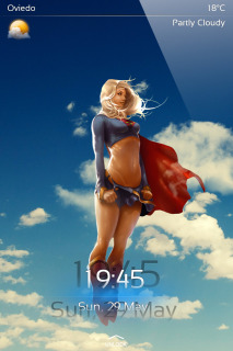 Super Woman Hero IPhone Theme Mobile Theme