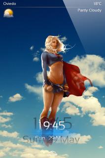 Super Woman Hero IPhone Theme Mobile Theme