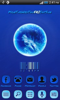 Blue Planet Earth For Android Theme Mobile Theme