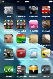 IPeer & Blue Space For IPhone Theme Mobile Theme