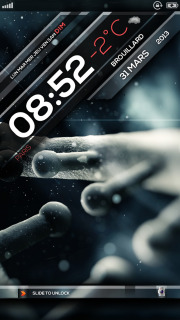 LS Organic Clock For IPhone Theme Mobile Theme
