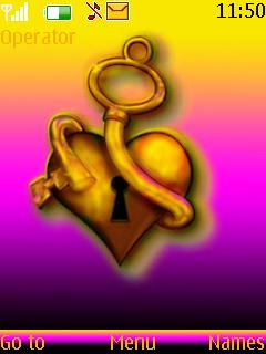 Unlock Your Heart S40 Theme Mobile Theme