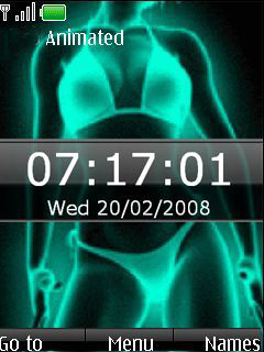 Animated Xray Bikini Clock S40 Theme Mobile Theme