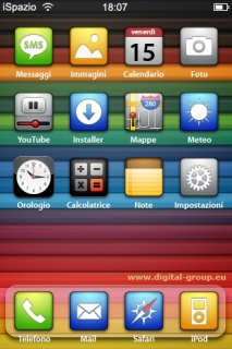 Colorful Digital Cupboard IPhone Theme Mobile Theme