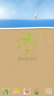 Android At Beach For Android Theme Mobile Theme