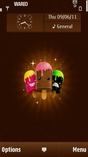 Cute Colors Ice Cream S60v5 Theme Mobile Theme