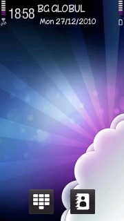 Colors 3D Clouds S60v5 Theme Mobile Theme