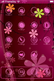 Abstract Purple Flowers IPhone Theme Mobile Theme