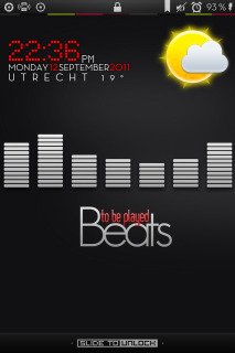 LS Beats Clock IPhone Theme Mobile Theme