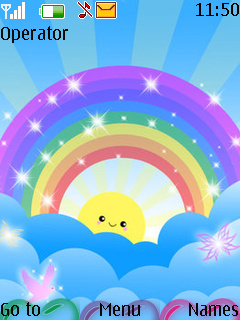 Rainbow Smiley Nokia S40 Theme Mobile Theme