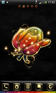 Colour Rose 3D Android Theme Mobile Theme