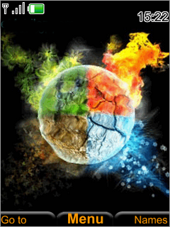 Colors Fire Cricle S40 Theme Mobile Theme