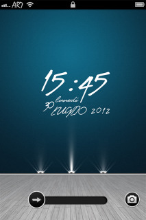 Lights Clock Elegant IPhone Theme Mobile Theme