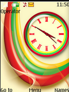 Rainbow Clock Flash S40 Theme Mobile Theme