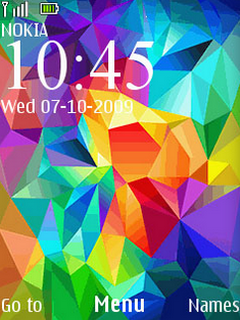 Colors Diamond Galaxy Clock S40 Theme Mobile Theme