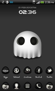 Ghost Clock For Android Theme Mobile Theme