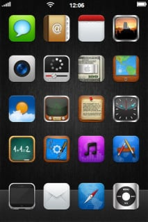 Amazing Simple ICons IPhone Theme Mobile Theme