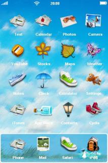 Blue 3D Sea View IPhone Theme Mobile Theme