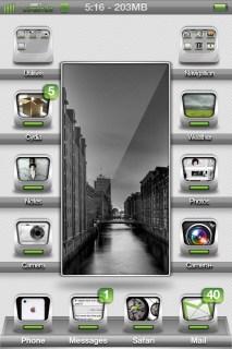 3d Gray Nature Lockscreen IPhone Theme Mobile Theme