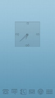 Clock Blue For Android Theme Mobile Theme