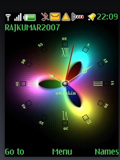 Abstract Colour Clock S40 Theme Mobile Theme
