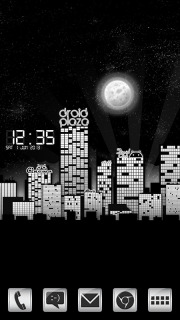 Dark City & Moon Clock For Android Theme Mobile Theme