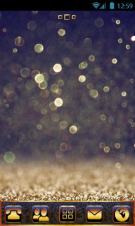 Golden Bokeh Glitters Android Theme Mobile Theme