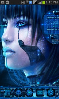Cyber Punk Girl System Android Theme Mobile Theme