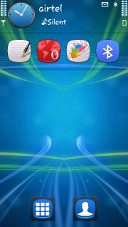 Blue Stripes Lines 3D S60v5 Theme Mobile Theme
