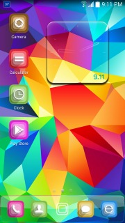 Abstract Rainbow Geometrical Android Theme Mobile Theme