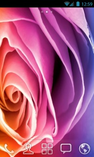 Cute Rainbow Digital Rose Android Theme Mobile Theme