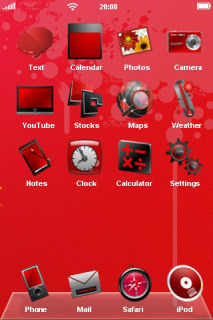 Pure Red Simple IPhone Theme Mobile Theme