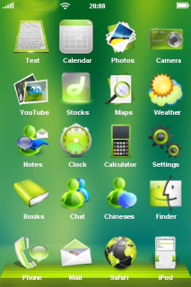 Green Lovely & ICons IPhone Theme Mobile Theme