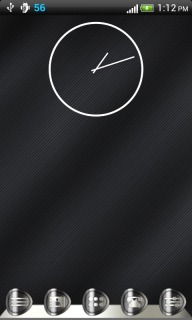 Liner Abstract Simple Clock Android Theme Mobile Theme