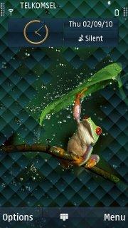 Frog Green Drink S60v5 Theme Mobile Theme
