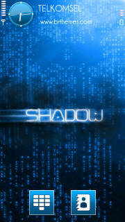 Shadow Blue 3D S60v5 Theme Mobile Theme
