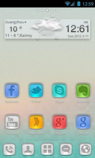 Clouds Glass 3D For Android Theme Mobile Theme