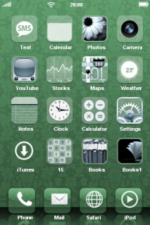 3D Design Green IPhone Theme Mobile Theme