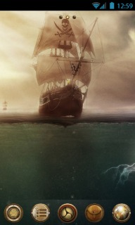 Pirates Ship For Android Theme Mobile Theme
