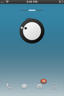 Circle Eye Dot Simple IPhone Theme Mobile Theme