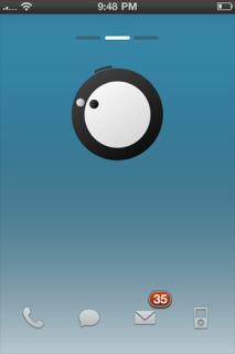 Circle Eye Dot Simple IPhone Theme Mobile Theme