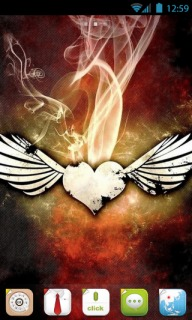 Love Wings & Smokes For Android Theme Mobile Theme