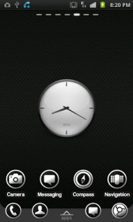 Simple Black Clock For Android Theme Mobile Theme