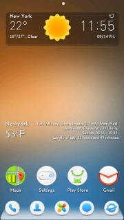 Colors Weather Clock For Android Theme Mobile Theme
