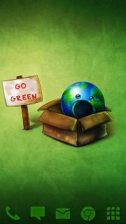 Go Green Smiley Android Theme Mobile Theme
