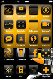 Goldrack & Icons For IPhone Theme Mobile Theme