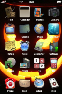 Happy Halloween Eyes IPhone Theme Mobile Theme